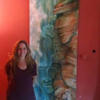 Lynn Spencer-Nelson ~ Full Size - Waterfall ~ Mural on Loose Canvas
