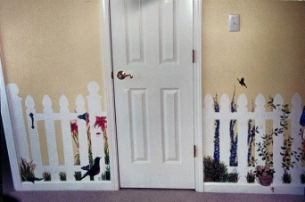 Megan's Room ~ Fill in the Fence Mural by Lynn Spencer-Nelson