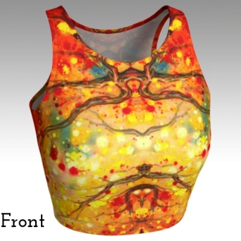Fire Oak Crop Tank Front