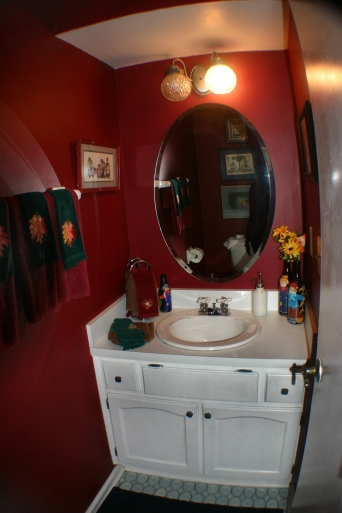 Tight Bathroom Pin Oak